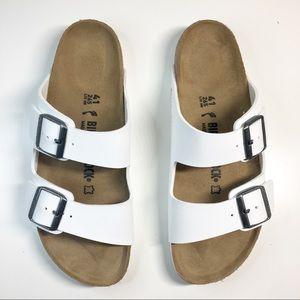 New! Birkenstock Arizona White Sandals 41